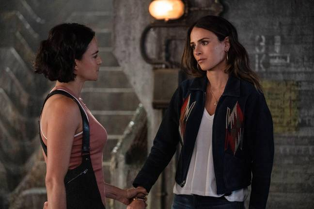 Michelle Rodriguez and Jordana Brewster in F9. (Universal Pictures)