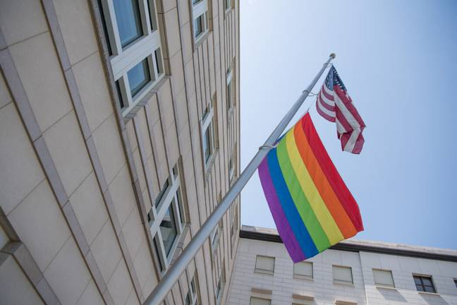 The Biden administration authorised US embassies to display pride flags (PA Images)