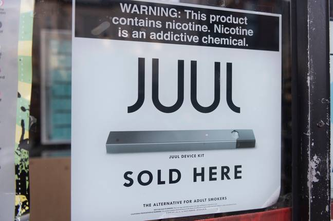 Juul sold here sign (PA Images)