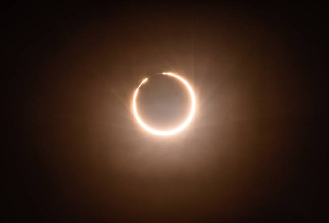 Last year's annular eclipse in China. (PA Images)