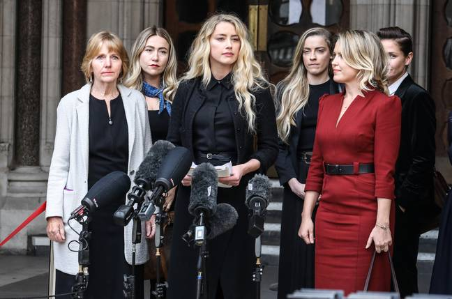 Amber Heard Gives a statement outside the Royal Courts Of Justice in London, UK (PA Images)