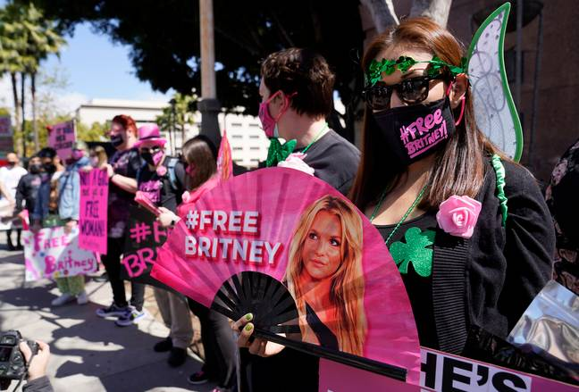 Free Britney protestors (PA Images)