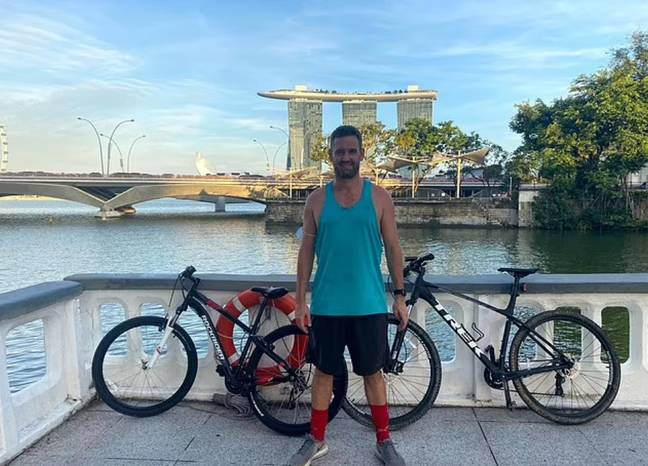 Benjamin Glynn is stick in Singapore awaiting trial (SWNS)