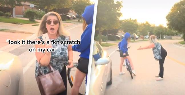 Woman Angrily Demands 'Everything' From Cyclist After Bike Touches Her Car