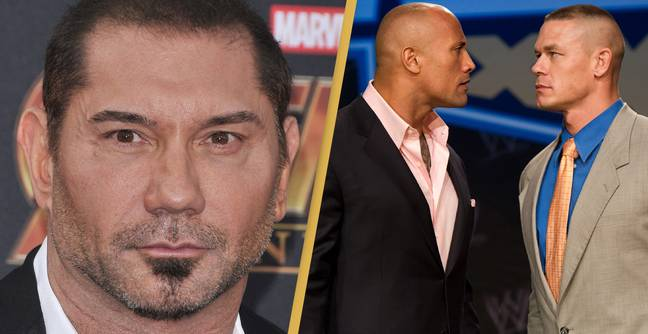 Dave Bautista Makes Scathing Comment About Filming With The Rock And John Cena