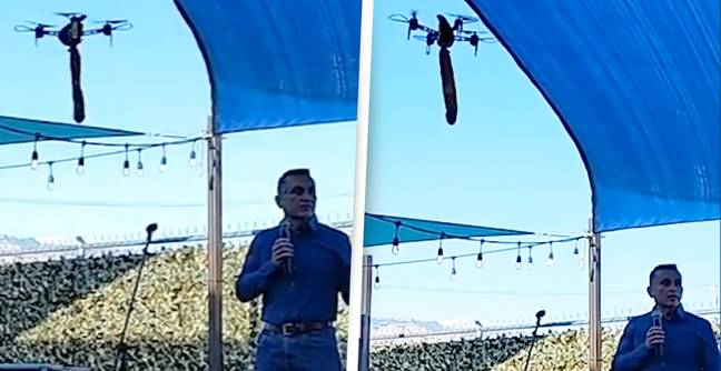 Albuquerque Mayor Candidate Has Speech Interrupted By Sex Toy On Drone
