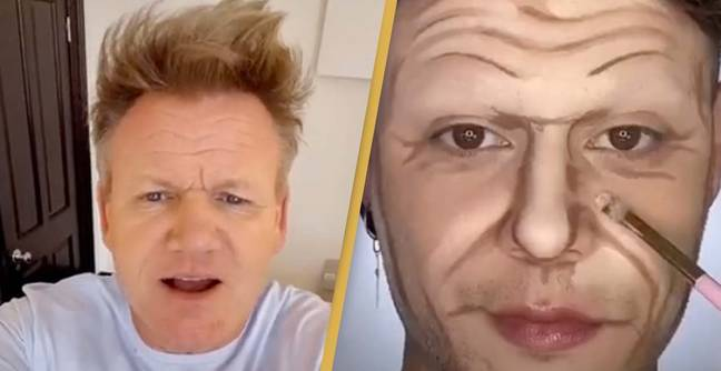 Gordon Ramsay Has Hilarious Reaction To Make Up Artist Trying To Look Like Him