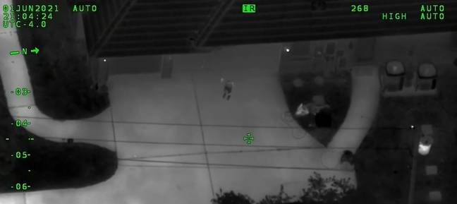 Child emerging from house (Volusia County Sheriff's Office)