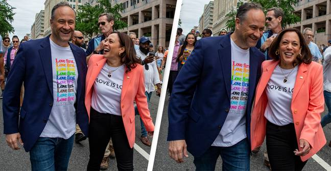 Kamala Harris Becomes First Sitting Vice President To March At Pride Event