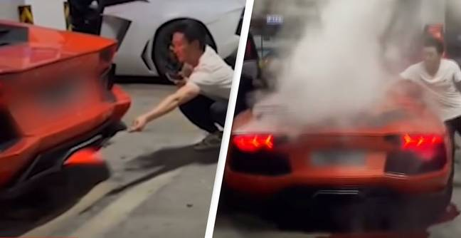 $400,000 Lamborghini Totalled After Racers Try To Grill Meat Using Flaming Exhaust