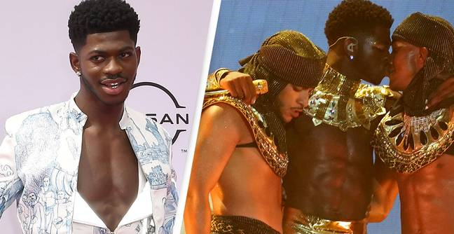 Lil Nas X Celebrates Pride With Steamy Onstage Kiss During Michael Jackson Tribute