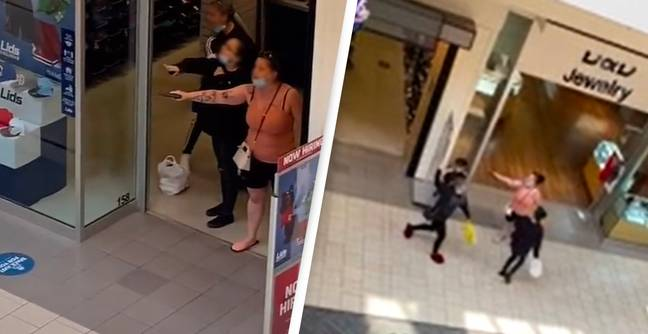 Shocking Video Reveals Mother Pointing Gun At Girls In Shopping Mall