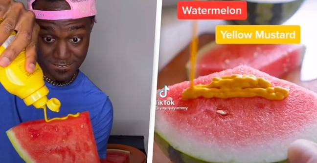 People Are Eating Watermelon With Mustard And It Looks Grim