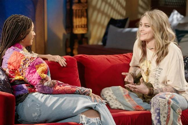Paris Jackson and Willow Smith on Red Table Talk (Red Table Talk/Facebook)