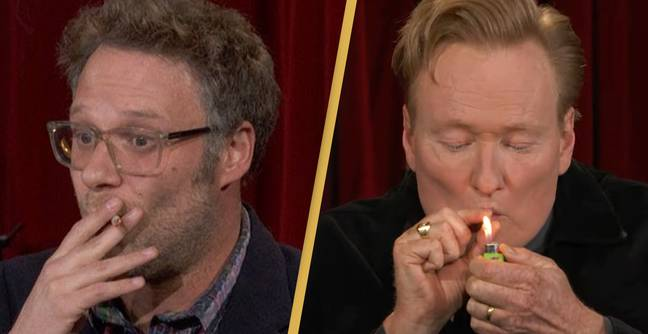 Seth Rogen Gets Conan O'Brien To Smoke Weed On TV Before Show Taken Off-Air