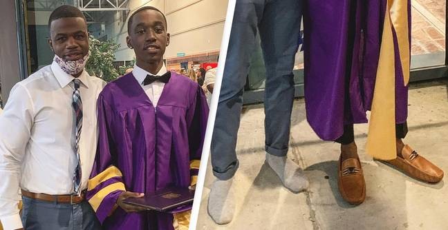 Teacher Trades Shoes With Student After He Realised Graduation Dress Code Gaff