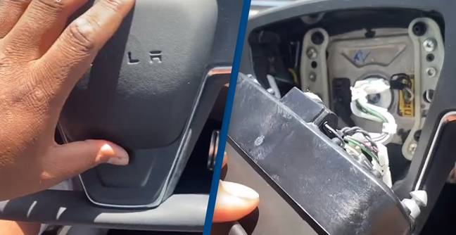 New Tesla Owner Claims Air Bag On $90,000 Car Fell Off Immediately After He Bought It
