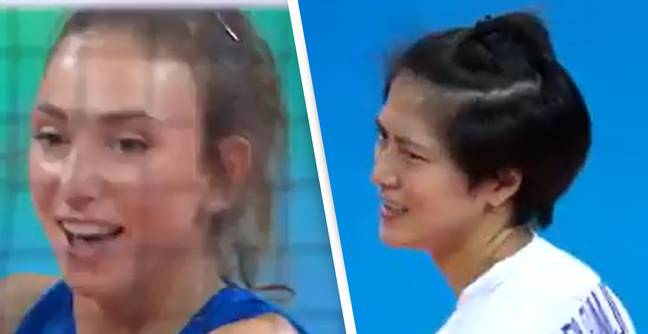 Serbian Volleyball Player Suspended For Making Racist Gesture During Match Against Thailand