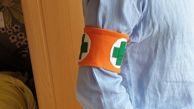 Arm band for vulnerable (Neil Collingwood/ BBC)