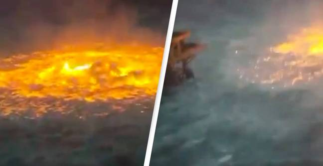 Atlantic Ocean Sets On Fire In Gulf Of Mexico