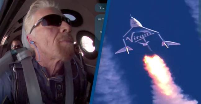 Richard Branson Beats Jeff Bezos And Launches Into Space