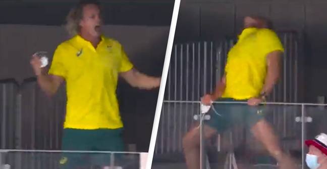 Australian Gold Winner's Coach's Celebration Is The Energy We Need On A Monday Morning