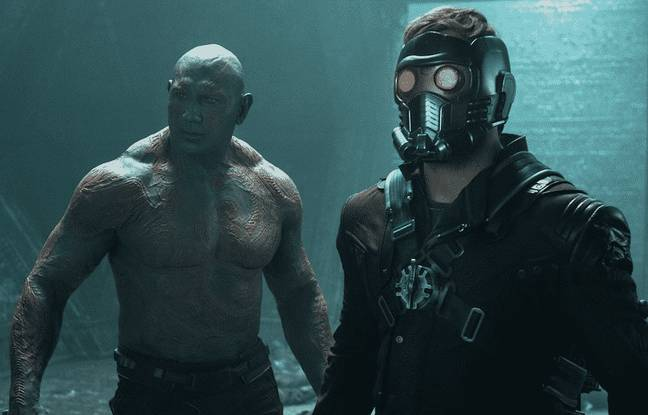 Chris Pratt and Dave Bautista in Guardians of the Galaxy. (Marvel Studios)