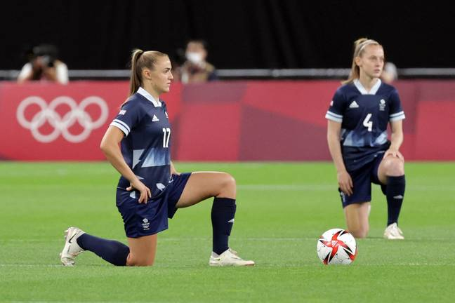Athletes Take The Knee At The Olympics For The First Time Ever (Getty)