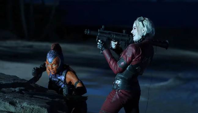 Mayling Ng and Margot Robbie in The Suicide Squad. (Warner Bros.)