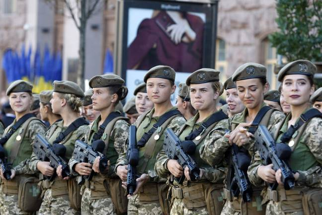More than 30,000 women serve in Ukraine's armed forces (PA Images)