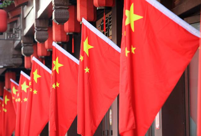 Chinese flags (PA)