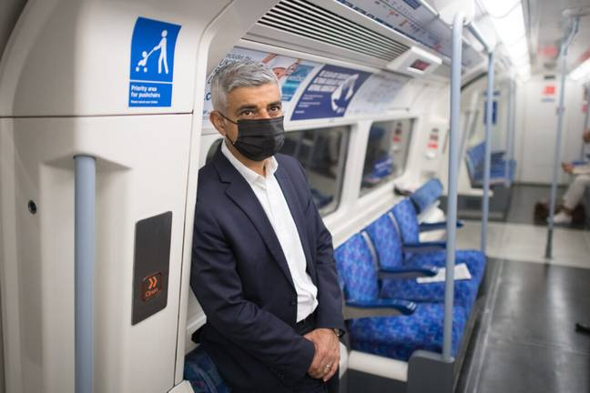 Sadiq Khan has campaigned for face masks to be kept compulsory on public transport (PA Images)