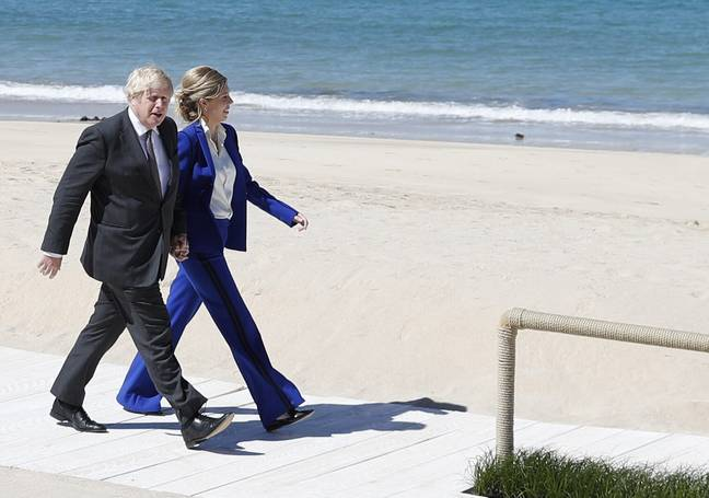 Boris And Carrie Johnson in Cornwall (PA Images)