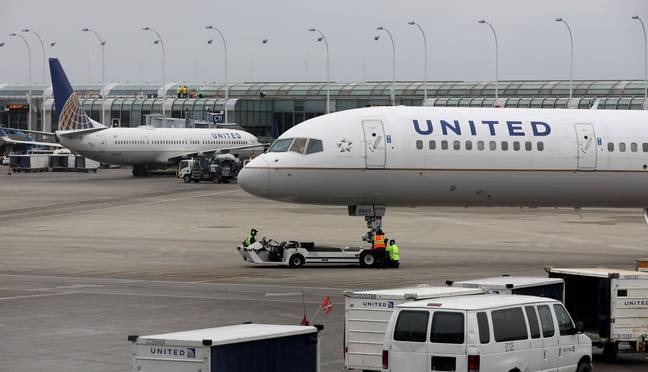The United Airlines flight was held up by a teenager. (PA Images)