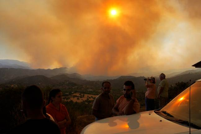 Cyprus fire (PA Images)