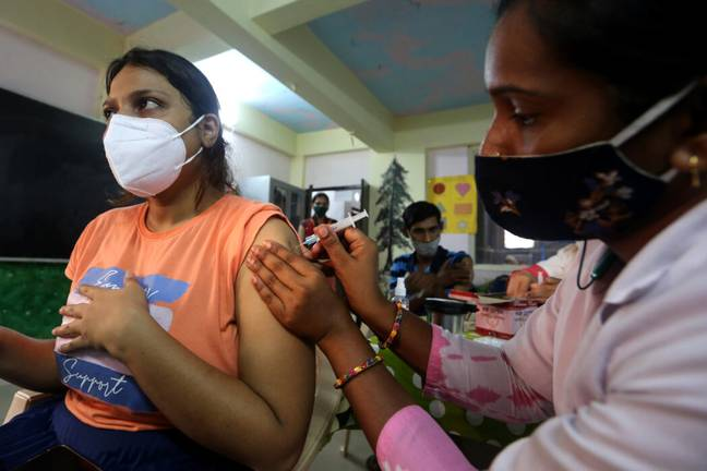 Fake vaccines were given to more than 2,000 Mumbai residents (PA Images)