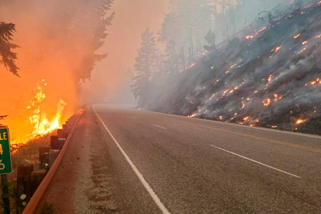 Wildfires caused by extreme temperatures in Pacific Northwest (PA Images)