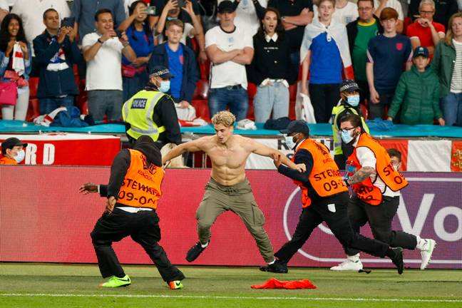 Pitch invader identified as former talent show contestant (PA Images)