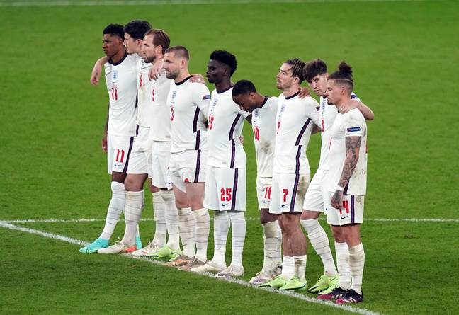 The England team. (PA Images)