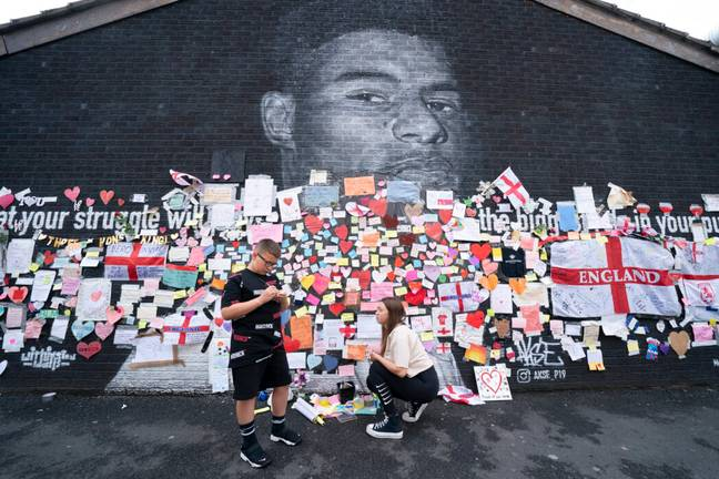 Marcus Rashford mural in Withington, Manchester (PA Images)