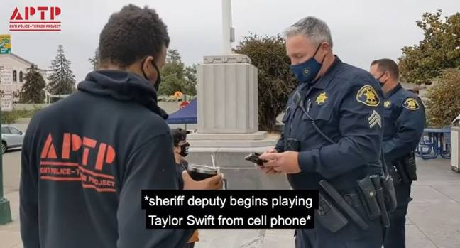 Police Officer Playing Taylor Swift ( Anti Police-Terror Project/YouTube)