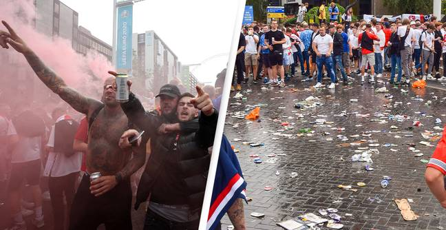 The Shameful Story Of English Supporter Chaos At Wembley On Football's Big Day