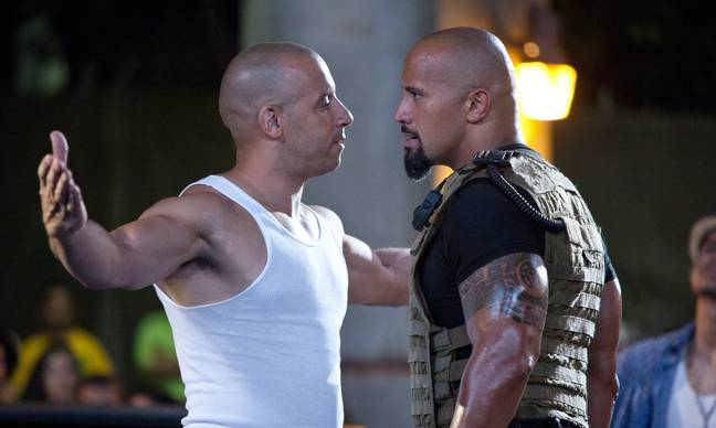Vin Diesel and The Rock in Fast Five. (Universal Pictures)