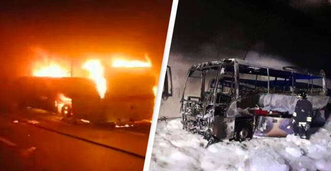 Driver Saves 25 Children Before Bus 'Devoured By Flames'