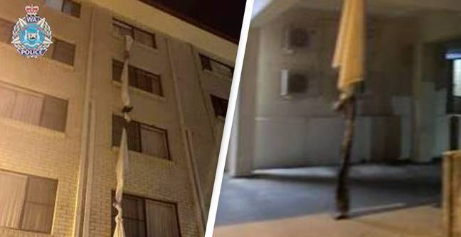 Man Makes Drastic Escape From Hotel Quarantine Using Bed Sheets Tied To Fourth Floor Window
