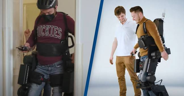 Dad Builds Son An Exoskeleton Robot To Help Him Walk Freely For The First Time