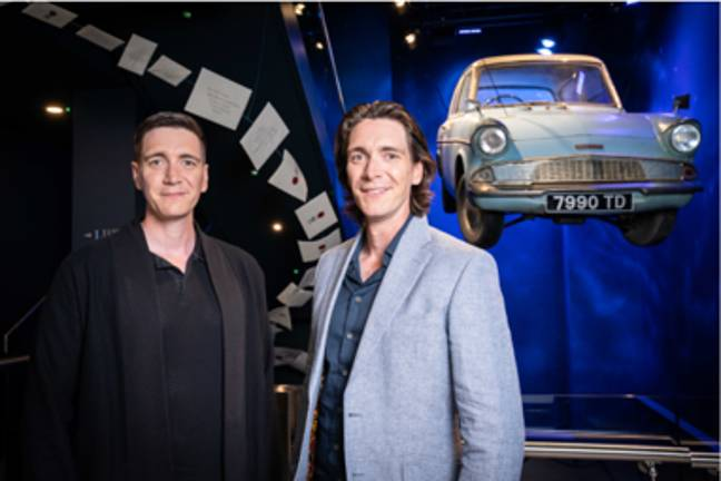 James and Oliver Phelps at new Harry Potter Photographic Exhibition (Harry Potter Photographic Exhibition)