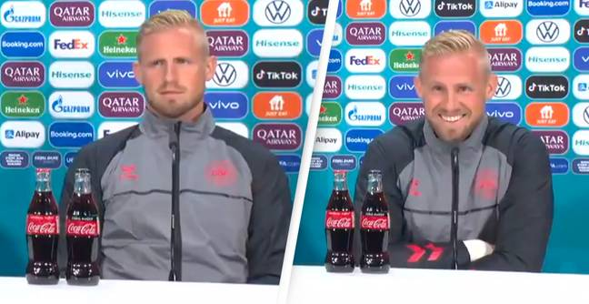 Denmark Goalkeeper Has Brutal Response To Journalist When Asked How He'll Stop It Coming Home For England