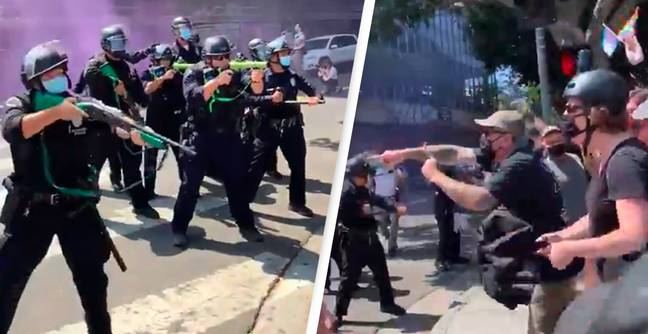 Woman Shot By Police As Violence Erupts At Anti-Trans Protest In Los Angeles