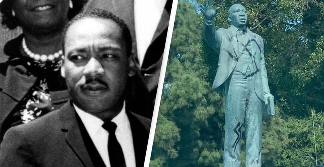 Martin Luther King Jr. Statue Vandalised With Swastika